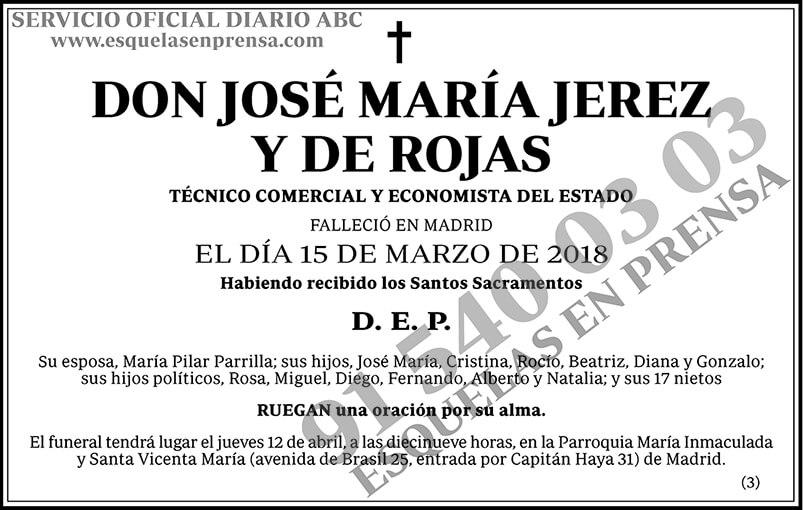 José María Jerez y de Rojas